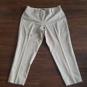 Euc tan/ beige cropped dress pants